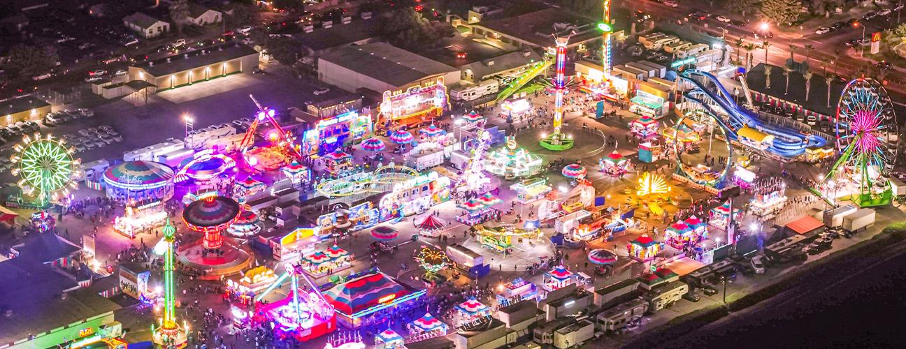 Fresno fair aerial shot