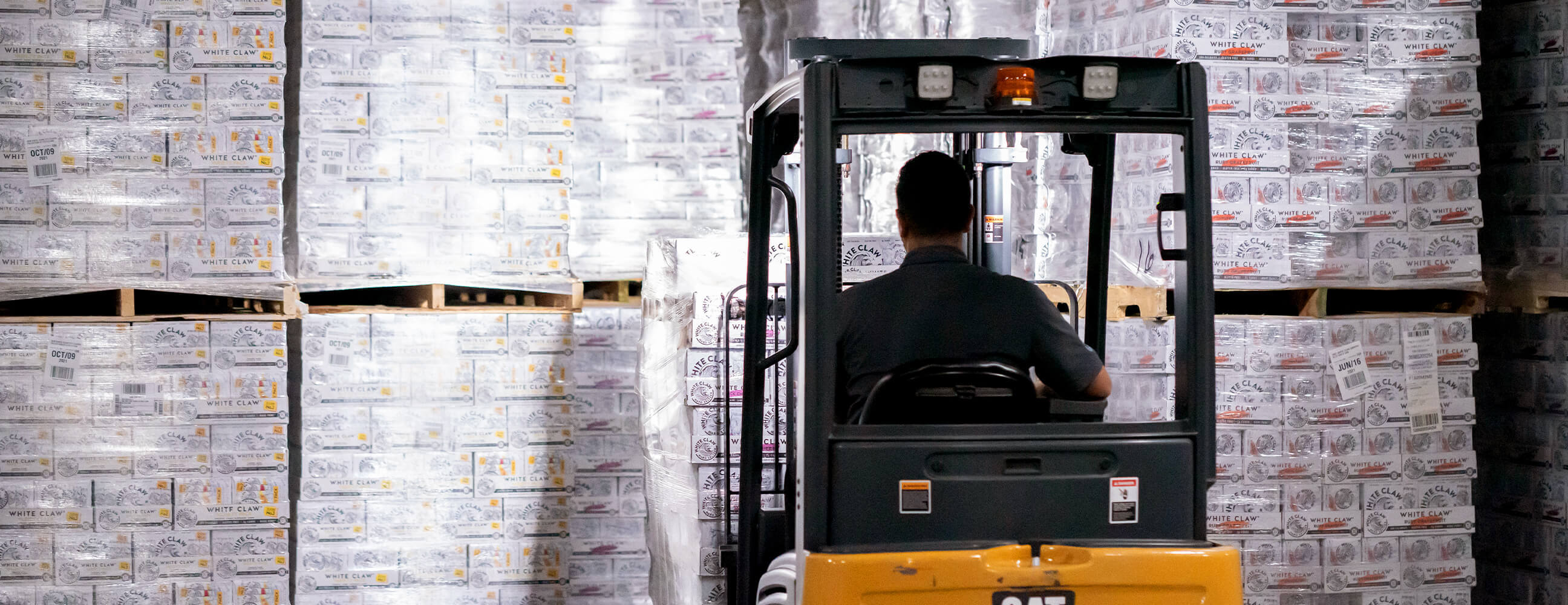 More forklift in warehouse