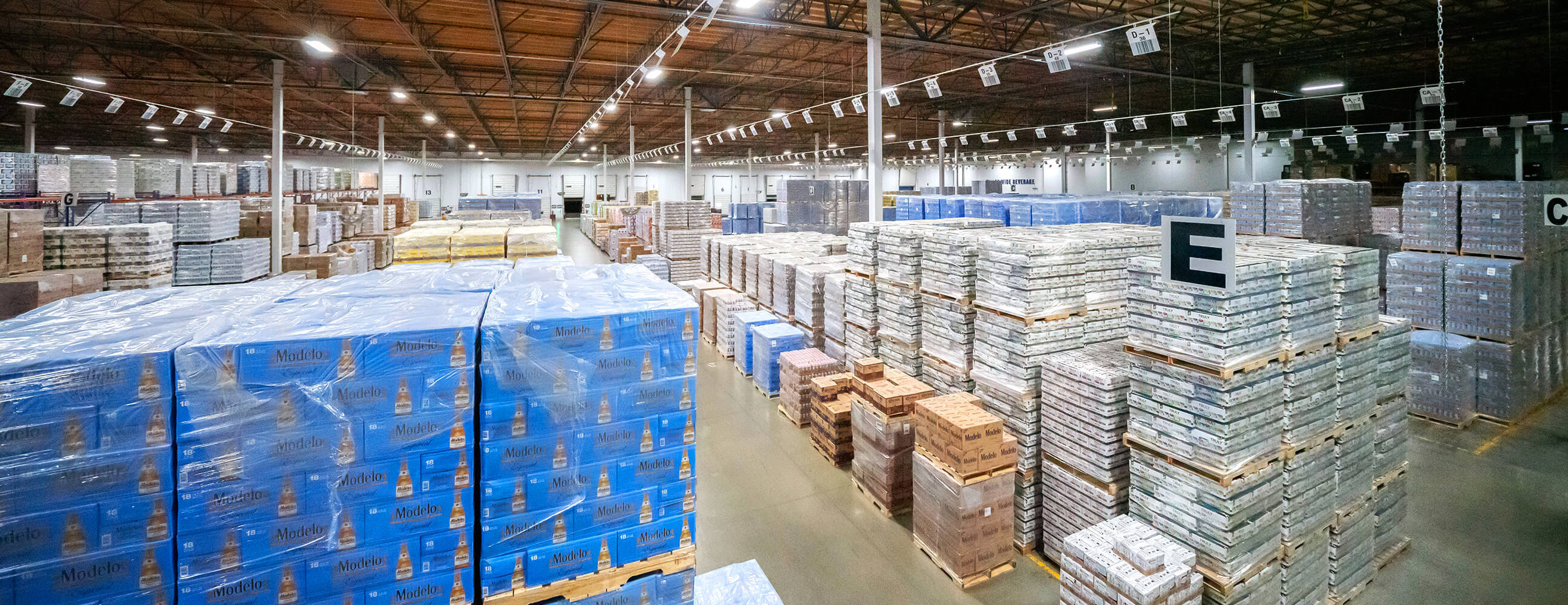 Warehouse storing alcohol beverages