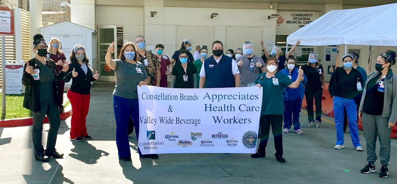 Constellation Brand & Valley Wide Beverage - Appreciation Health Care Workers Fund Raiser