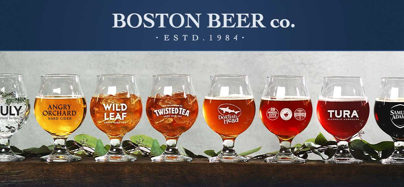 Boston Beer Company - Glasses of different Beverages